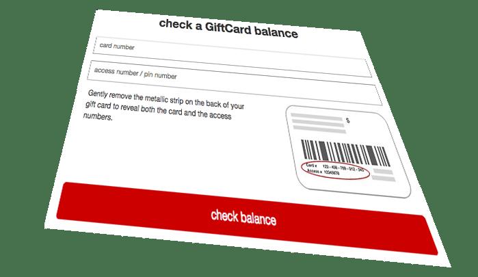 Gift Card Balance Check