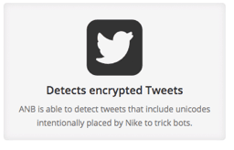 Detects encrypted Tweets