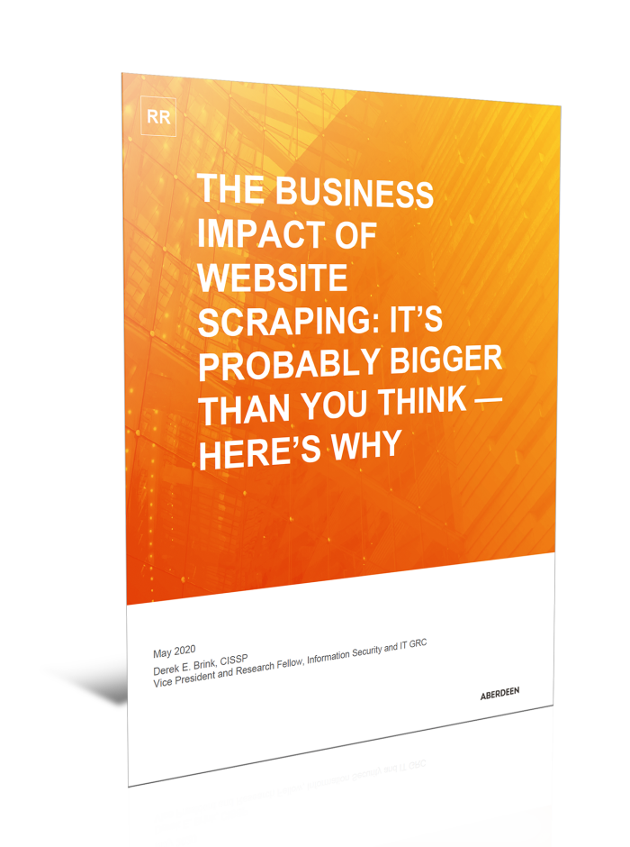 Aberdeen Research Report: The Business Impact of Website Scraping